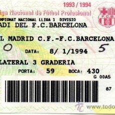 Coleccionismo deportivo: ENTRADA FUTBOL ESTADI FC BARCELONA LIGA NACIONAL DE FUTBOL PROFESIONAL REAL MADRID B1993 -1994. Lote 31160378