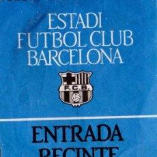 Coleccionismo deportivo: ENTRADA FUTBOL ESTADI FC BARCELONA GOL NORD. Lote 31161875