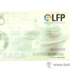 Coleccionismo deportivo: ENTRADA FUTBOL - ESPAÑOL VS MALAGA LIGA 2000-2001. Lote 31386616