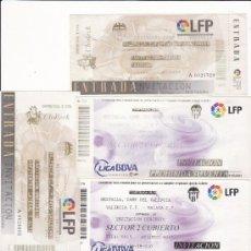 Coleccionismo deportivo: LOTE 5 ENTRADAS FÚTBOL - VALENCIA CF - LOTE 13. Lote 31769992