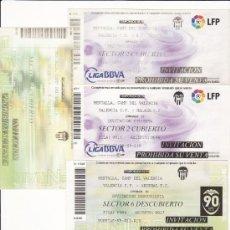 Coleccionismo deportivo: LOTE 5 ENTRADAS FÚTBOL - VALENCIA CF - LOTE 12. Lote 31769994