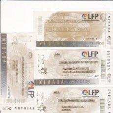Coleccionismo deportivo: LOTE 5 ENTRADAS FÚTBOL - VALENCIA CF - LOTE 21. Lote 31770006