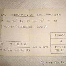 Coleccionismo deportivo: CB SEVILLA CLUBASA, BALONCESTO , ENTRADA, . Lote 31958541