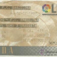 Coleccionismo deportivo: ENTRADA CAMP NOU,BARÇA-R.OVIEDO,1997. Lote 32237672