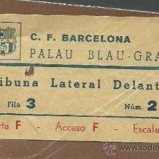 Coleccionismo deportivo: L4-27 F.C. BARCELONA ENTRADA DEL PALAU BLAU GRANA -TRIBUNA LATERAL DELANTERA - FILA 3 Nº 2 - AÑOS 60. Lote 32815399