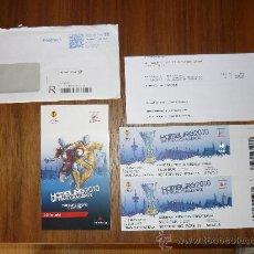 Coleccionismo deportivo: ENTRADA FINAL EUROPA LIGUE LIGA 2010 ATLETICO DE MADRID HAMBURGO SECTOR C 55€ CON SOBRE Y DOCUMENTA. Lote 203092732