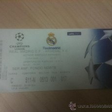 Coleccionismo deportivo: TICKET ENTRADA REAL MADRID ARSENAL CHAMPIONS LEAGUE 2006 2007. Lote 33784412