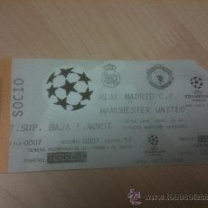 Coleccionismo deportivo: TCIKET ENTRADA REAL MADRID MANCHESTER UNITED CHAMPIONS LEAGUE 1999 2000. Lote 33784845