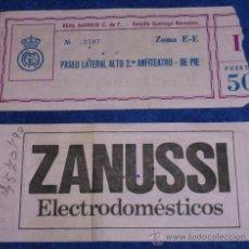 Coleccionismo deportivo: REAL MADRID - ZANUSSI. Lote 34014819