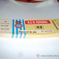 Coleccionismo deportivo: RCD ESPAÑOL . TALONARIO - 100 ENTRADAS -. Lote 34362587