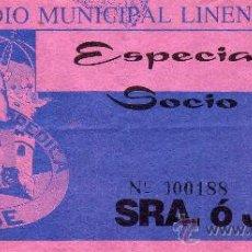Coleccionismo deportivo: ENTRADA, ESTADIO MUNICIPAL LINENSE,. Lote 34514006