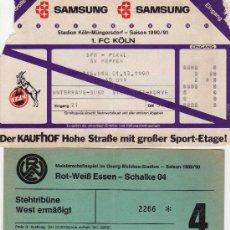 Coleccionismo deportivo: 3 ENTRADAS FUTBOL DE ALEMANIA,DE LIGA, 2 DE 1989 - Y 1 DE 1990. Lote 34631356