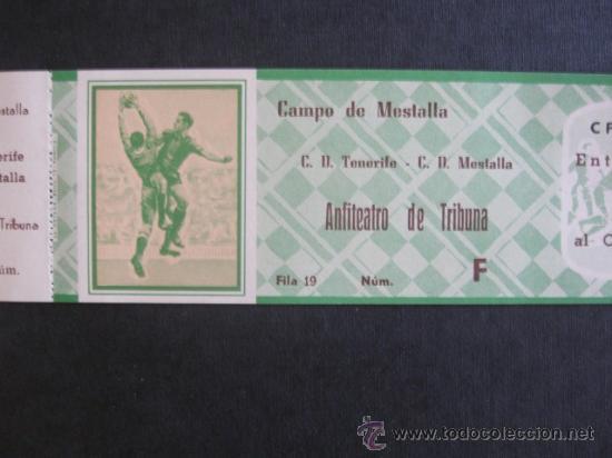 ENTRADA DE FUTBOL CAMPO MESTALLA C.D.MESTALLA-C.D.TENERIFE- IMPECABLE (Coleccionismo Deportivo - Documentos de Deportes - Entradas de Fútbol)
