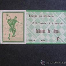 Coleccionismo deportivo: ENTRADA DE FUTBOL CAMPO MESTALLA C.D.MESTALLA-C.D.TENERIFE- IMPECABLE. Lote 34862883