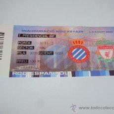 Coleccionismo deportivo: RCD ESPANYOL. INAUGURACIO NOU ESTADI 2-8-2009-. Lote 35267204