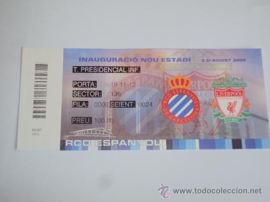 Coleccionismo deportivo: RCD Espanyol. Inauguracio Nou Estadi 2-8-2009- - Foto 4 - 35267204