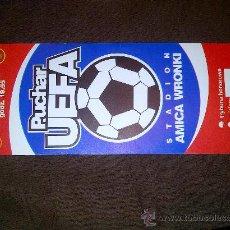 Coleccionismo deportivo: 6.23 ENTRADA DE FUTBOL UEFA ATLETICO DE MADRID - AMICA 1999. Lote 35991130
