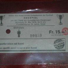 Coleccionismo deportivo: RECOPA DE EUROPA BASILEA FUTBOL CLUB BARCELONA 1979 CAMPEON ENTRADA CJ 11. Lote 37274598