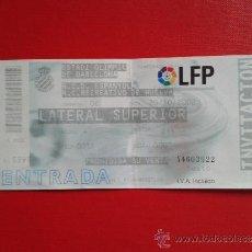 Coleccionismo deportivo: ENTRADA LIGA 2002-03 ESTADIO OLÍMPICO RCD ESPANYOL R.C.D ESPAÑOL REAL CLUB RECREATIVO DE HUELVA. Lote 37706835
