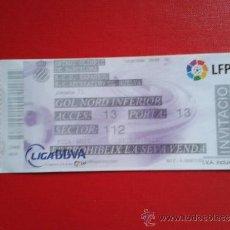 Coleccionismo deportivo: ENTRADA PARTIDO LIGA 1ª DIVISIÓN RCD ESPANYOL RCD ESPAÑOL - RECREATIVO DE HUELVA 2008-09. Lote 37771901