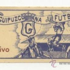 Coleccionismo deportivo: ANTIGUA ENTRADA DE FÚTBOL AÑOS 40'S O 50´S FEDERACIÓN GUIPUZCOANA DE FÚTBOL. Lote 45897544