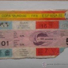 Coleccionismo deportivo: ENTRADA DE FUTBOL COPA MUNDIAL, FIFA ESPAÑA 82 EN GIJON, EL MOLINON. Lote 38941529