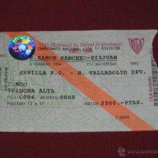Coleccionismo deportivo: ENTRADA CAMPEONATO LIGA 1993/1994 - ESTADIO RAMON SANCHEZ PIZJUAN - SEVILLA F.C. - VALLADOLID DPV.. Lote 39475435