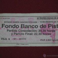 Coleccionismo deportivo: ENTRADA XI TROFEO CIUDAD DE SEVILLA - ESTADIO R. SANCHEZ PIZJUAN - PARTIDO CONSOLACION - 1993. Lote 39476690