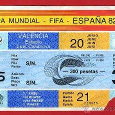 Coleccionismo deportivo: ENTRADA FUTBOL, MUNDIAL ESPAÑA 82 1982, FIFA , PARTIDO NUMERO 21 , ORIGINAL , EF3388. Lote 108834844