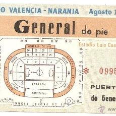 Coleccionismo deportivo: VALENCIA: ENTRADA PARA EL TROFEO NARANJA DE 1983. Lote 40187106