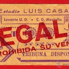 Coleccionismo deportivo: ENTRADA FUTBOL , CAMPO LUIS CASANOVA, MESTALLA LEVANTE UD ,ORIGINAL , EF3406. Lote 40387588