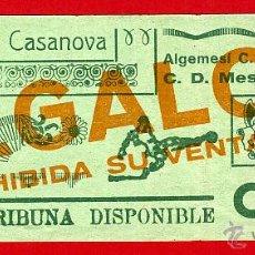 Coleccionismo deportivo: ENTRADA FUTBOL , VALENCIA , MESTALLA ALGEMESI , ORIGINAL , EF3439. Lote 40387991