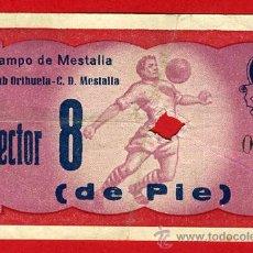 Coleccionismo deportivo: ENTRADA FUTBOL , VALENCIA , MESTALLA ORIHUELA ALICANTE , 1959 , ORIGINAL , EF3466. Lote 40388288