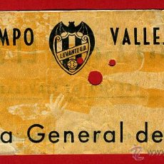 Coleccionismo deportivo: ENTRADA FUTBOL , LEVANTE UD , CAMPO VALLEJO , ORIGINAL , EF3473. Lote 40388380