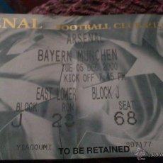 Coleccionismo deportivo: ENTRADA ARSENAL - BAYERN MUNICH 2000-2001 (CHAMPIONS LEAGUE). Lote 40388953