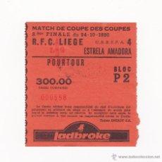 Coleccionismo deportivo: ENTRADA/TICKET FUTBOL - RFC LIEGE VS ESTRELLA AMADORA COPA UEFA TEMPORADA 1990-1991. Lote 40898921