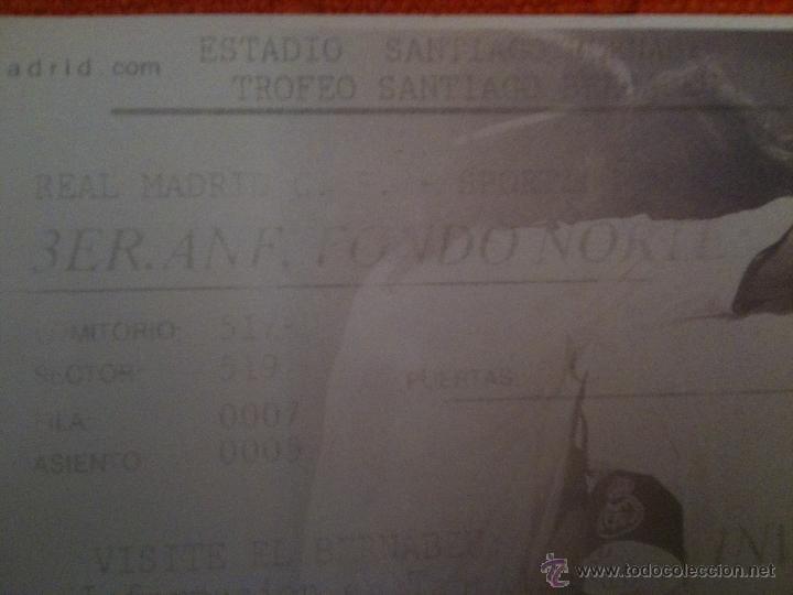 Coleccionismo deportivo: Entrada Real Madrid - Trofeo Santiago Bernabeu - Sporting de Lisboa - Foto 2 - 33784499