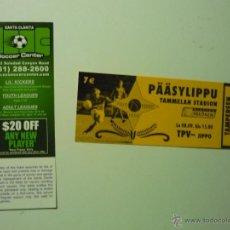 Coleccionismo deportivo: LOTE ENTRADAS FUTBOL EXTRANJERAS. Lote 41471943