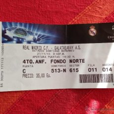 Coleccionismo deportivo: ENTRADA TICKET REAL MADRID GALATASARAY CHAMPIONS EUROPA LEAGUE 2013 2014. Lote 41597584
