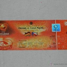 Coleccionismo deportivo: ENTRADA EUROCOPA PORTUGAL EURO 2004 , ALEMANIA - REPUPLICA CHECA , BUEN ESTADO. Lote 41711345