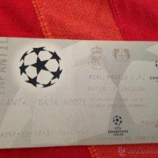 Coleccionismo deportivo: ENTRADA TICKET REAL MADRID BAYERN LEVERKUSEN CHAMPIONS 1997 1998. Lote 42162528