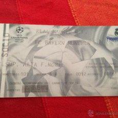 Coleccionismo deportivo: ENTRADA TICKET REAL MADRID BAYERN MUNICH MUNCHEN CHAMPIONS 2000 2001. Lote 42162619
