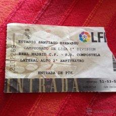 Coleccionismo deportivo: ENTRADA TICKET REAL MADRID COMPOSTELA LIGA ESTADIO SANTIAGO BERNABEU. Lote 42213487