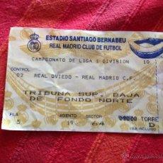 Coleccionismo deportivo: ENTRADA TICKET REAL MADRID OVIEDO LIGA ESTADIO SANTIAGO BERNABEU. Lote 42213529