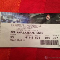 Coleccionismo deportivo: ENTRADA TICKET REAL MADRID GALATASARAY CHAMPIONS EUROPA LEAGUE 2013 2014. Lote 42491601