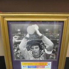 Coleccionismo deportivo: ENTRADA SEMIFINALES ESPAÑA 82 Y FOTO ORIGINAL DE PRENSA. Lote 43187669