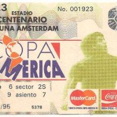 Coleccionismo deportivo: ENTRADA USADA COPA AMÉRICA 1995 - URUGUAY 2 - COLOMBIA 0. Lote 43228993