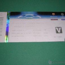 Coleccionismo deportivo: ENTRADA CHAMPIONS LEAGUE 2009 BARCELONA - BAYERN -MUNCHEN -. Lote 43362738