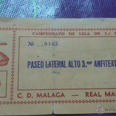 Coleccionismo deportivo: ENTRADA REAL MADRID - MALAGA 1983-1984. Lote 43590640
