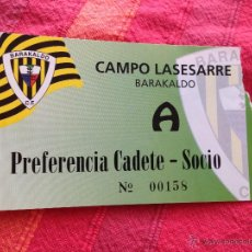 Coleccionismo deportivo: R4276 ENTRADA TICKET BARAKALDO BARACALDO ZARAGOZA B 1998 1998. Lote 43872730